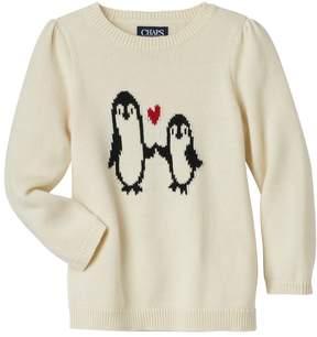 Chaps Girls 4-6x Penguin Sweater