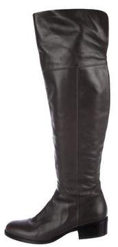 Via Spiga Leather Over-The-Knee Boots