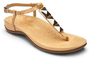 Vionic Walk.Move.Live Rest Nala Cork Geometric Stud T-Strap Sandals