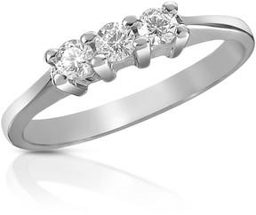Forzieri 0.10 ct Three-Stone Diamond 18K Gold Ring