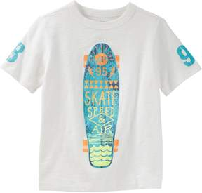 Osh Kosh Oshkosh Bgosh Boys 4-12 Skate Speed & Air Skateboard Slubbed Graphic Tee