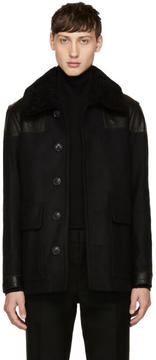 Burberry Black Wool Muswell Jacket