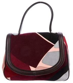 Emilio Pucci Leather-Trimmed Corduroy Handle Bag