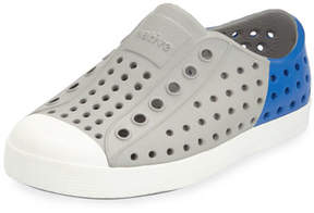 Native Jefferson Waterproof Colorblock Low-Top Shoe, Gray/Blue, Toddler