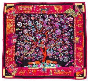 One Kings Lane Vintage Hermès Fantaisies Indiennes Silk Scarf
