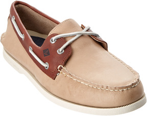 Sperry Men's A/O Cross Lace Leather Boat Shoe