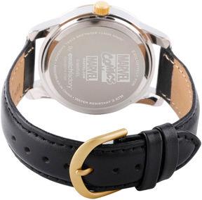 Marvel Classic Mens Black Strap Watch-Wma000058