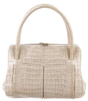Nancy Gonzalez Embossed Leather Handle Bag