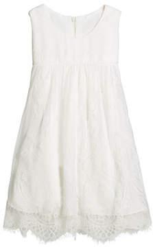 Helena Lace Empire-Waist Sleeveless Dress, Size 2-6