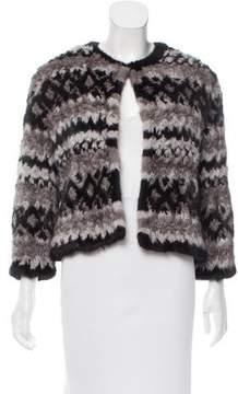 Isaac Mizrahi Knit Mink Jacket