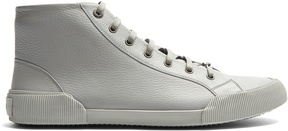 Lanvin High-top grained-leather trainers