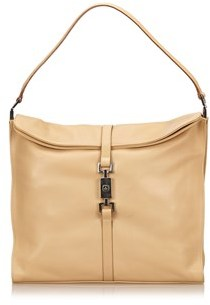 Gucci Pre-owned: Leather Jackie Shoulder Bag. - BROWN X BEIGE - STYLE