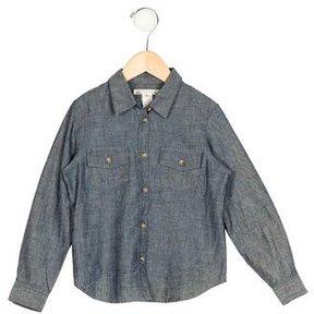 Bonpoint Boys' Collared Chambray Shirt