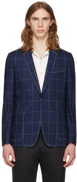 Paul Smith Indigo Windowpane Check Blazer