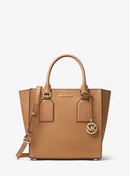 Michael Kors Selby Saffiano Leather Crossbody - BROWN - STYLE
