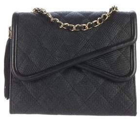 Chanel Straw Flap Bag