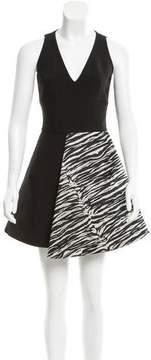 Fausto Puglisi A-Line Zebra Print-Accented Dress