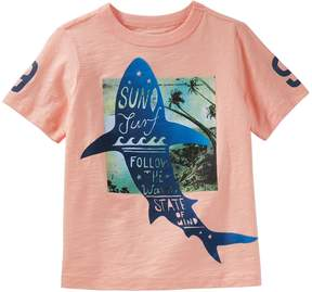 Osh Kosh Oshkosh Bgosh Boys 4-12 Sun Surf Waves Shark Graphic Tee