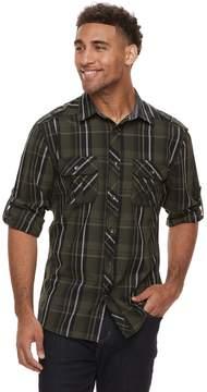 Rock & Republic Men's Plaid Woven Button-Down Shirt