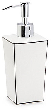 Southern Living Raleigh Porcelain & Stainless Steel Lotion Dispenser