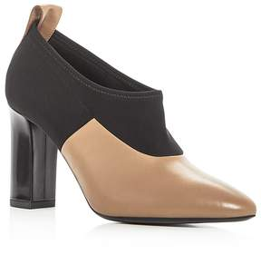 Via Spiga Women's Bayne Leather Color Block High Heel Booties