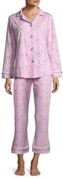 BedHead Painted Damask Long-Sleeve Classic Pajama Set, Plus Size