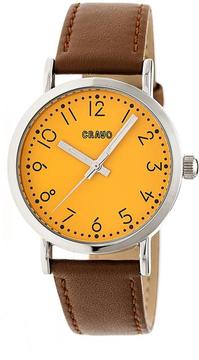Crayo Pride CRACR3802 Silver and Camel Leather Analog Watch