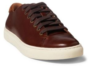 Ralph Lauren Jermain Leather Sneaker Deep Saddle Tan/New Snuff 10