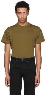 Helmut Lang Green Skinny Tall Military T-Shirt