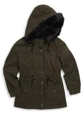 Blank NYC Girl's Faux-Fur Trimmed Parka