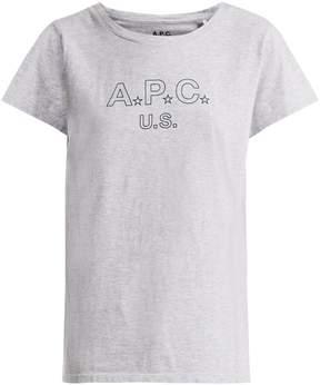 A.P.C. US Star Logo cotton-blend jersey T-shirt