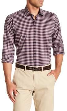 Jared Lang Mini Check Patterned Woven Shirt