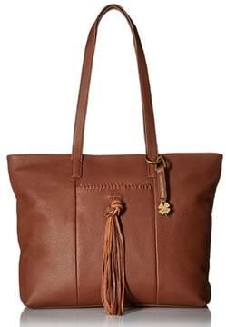 Lucky Brand Women's Carmen Leather Tote Brandy LB3091