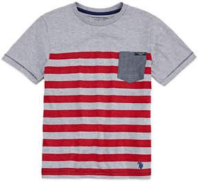 U.S. Polo Assn. USPA Short Sleeve Crew Neck T-Shirt-Big Kid Boys