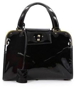 Saint Laurent Pre-owned: Uptown Handbag Patent Small. - BLACK - STYLE