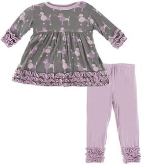Kickee Pants Purple Poodle Set