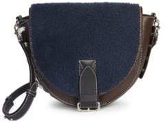 J.W.Anderson Shearling& Suede Saddle Bag