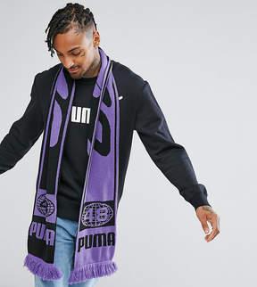 Puma Retro Soccer Scarf In Purple Exclusive to ASOS
