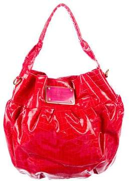 Marc by Marc Jacobs Embossed Leather Hobo - RED - STYLE