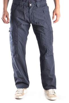 Ermanno Scervino Men's Blue Cotton Pants.