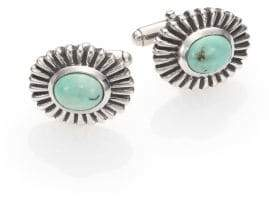 King Baby Studio Turquoise Concho Cuff Links