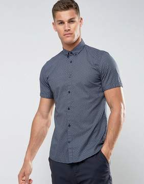 Tom Tailor Short Sleeve Slim Fit Shirt With All Over Print