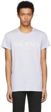 Balmain Grey Logo T-Shirt
