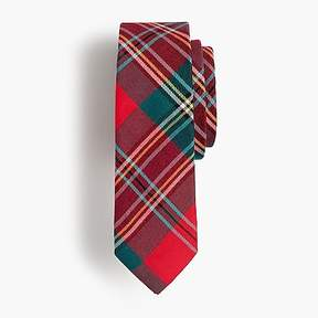 J.Crew Boys' cotton tie in red plaid
