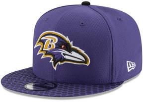 New Era Boys' Baltimore Ravens 2017 Official Sideline 9FIFTY Snapback Cap