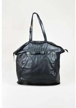 Nina Ricci Pre-owned Black Leather Top Handle Tote Bag.