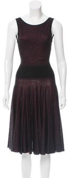 Alaia Silk Fit and Flare Dress