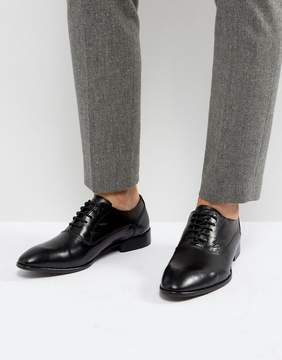 Base London Holmes Leather Oxford Shoes In Black