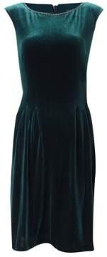 Vince Camuto Women's Embellished Velvet Fit & Flare Dress