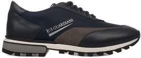 Alberto Guardiani Blue Sport Man Forrest Leather Sneakers